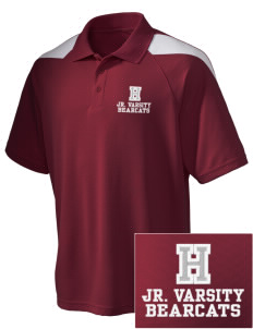 Hawley Middle School Bearcats Embroidered Holloway Men's Frequency Performance Pique Polo