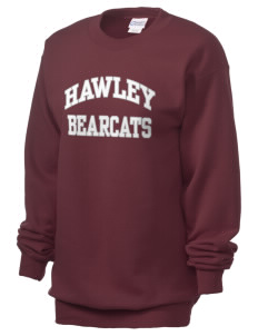 Hawley Middle School Bearcats Unisex 7.8 oz Lightweight Crewneck Sweatshirt
