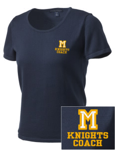 Menlo School Knights Embroidered Women's Fine-Gauge Scoop Neck Sweater