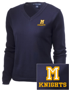 Menlo School Knights Embroidered Women's V-Neck Sweater
