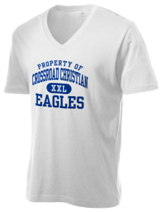 Crossroad Christian School Eagles Alternative Men's 3.7 oz Basic V-Neck T-Shirt