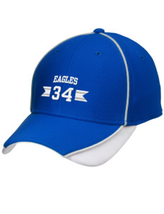 Crossroad Christian School Eagles Embroidered New Era Contrast Piped Performance Cap