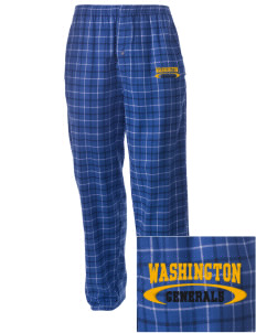 Washington School Generals Embroidered Men's Button-Fly Collegiate Flannel Pant