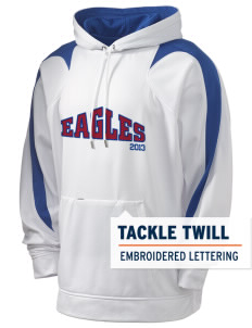 American Christian School Eagles Holloway Men's Sports Fleece Hooded Sweatshirt with Tackle Twill