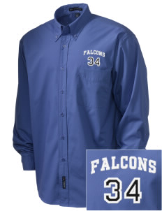 Lutheran High School East Falcons  Embroidered Men's Easy Care, Soil Resistant Shirt