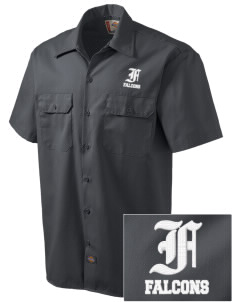 Lutheran High School East Falcons Embroidered Dickies Men's Short-Sleeve Workshirt