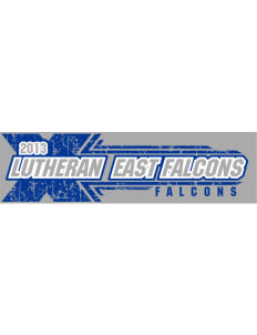 "Lutheran High School East Falcons Bumper Sticker 11"" x 3"""