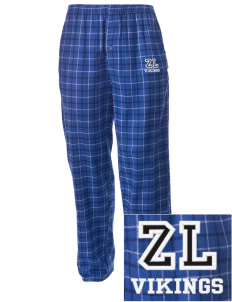Zion Lutheran School Vikings Embroidered Men's Button-Fly Collegiate Flannel Pant