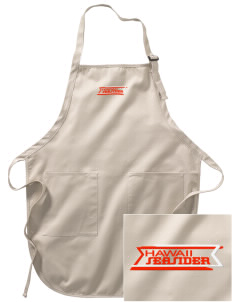 Hawaii Seasider Embroidered Full-Length Apron with Pockets