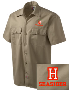 Hawaii Seasider Embroidered Dickies Men's Short-Sleeve Workshirt