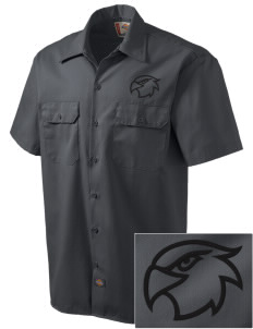 North Pointe Prep Falcons Embroidered Dickies Men's Short-Sleeve Workshirt