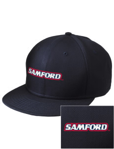 Samford University Bulldogs  Embroidered New Era Flat Bill Snapback Cap