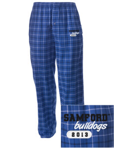 Samford University Bulldogs Embroidered Men's Button-Fly Collegiate Flannel Pant