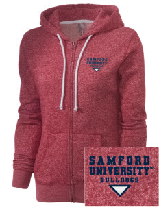 Samford University Bulldogs Embroidered Women's Marled Full-Zip Hooded Sweatshirt