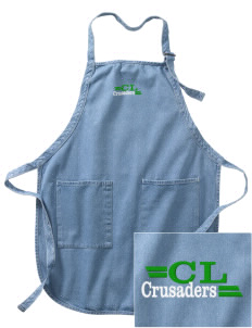 Clemons Lutheran School Crusaders Embroidered Full-Length Apron with Pockets