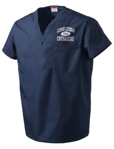 Clemons Lutheran School Crusaders V-Neck Scrub Top