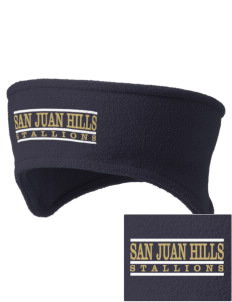 San Juan Hills High School Stallions Embroidered Fleece Headband