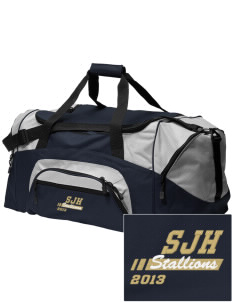 San Juan Hills High School Stallions Embroidered Colorblock Duffel Bag