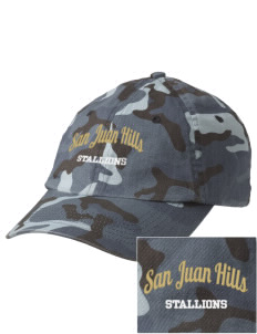 San Juan Hills High School Stallions Embroidered Camouflage Cotton Cap