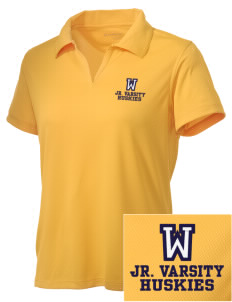 Whittier Elementary School Huskies Embroidered Women's Double Mesh Polo
