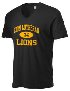 Zion Lutheran School Lions Alternative Men's 3.7 oz Basic V-Neck T-Shirt