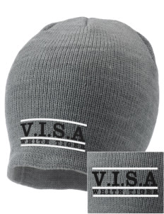 V.I.S.A White Tiger Embroidered Knit Cap