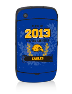 Seaford Christian Academy Eagles Black Berry 8530 Curve Skin