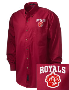 Queen Anne Christian School Royals Embroidered Men's Twill Shirt