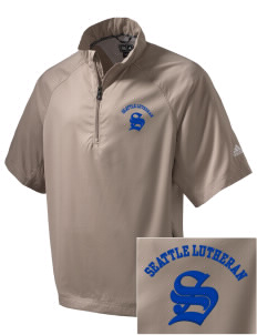 Seattle Lutheran High School Saints Embroidered adidas Men's ClimaProof Wind Shirt
