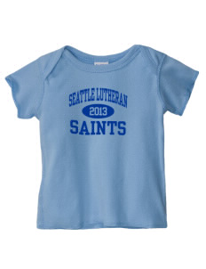 Seattle Lutheran High School Saints  Baby Lap Shoulder T-Shirt