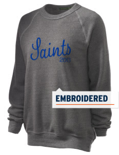 Seattle Lutheran High School Saints Embroidered Unisex Alternative Eco-Fleece Raglan Sweatshirt