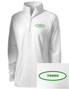 Islamic School Of Seattle Trees Embroidered Ladies Stretched Half-Zip Pullover