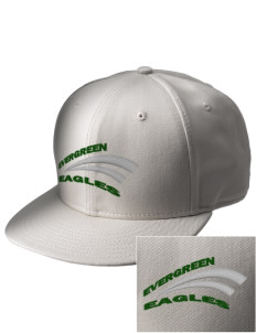 Evergreen Academy Eagles  Embroidered New Era Flat Bill Snapback Cap