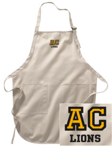 Arlington Christian School Lions Embroidered Full-Length Apron with Pockets