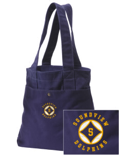 Soundview Private School Dolphins Embroidered Alternative The Berkeley Tote