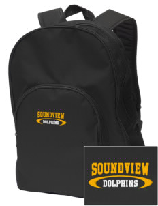 Soundview Private School Dolphins Embroidered Value Backpack