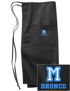 Middltown Middle School bronco Embroidered Full Bistro Bib Apron