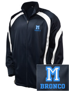 Middltown Middle School bronco Embroidered Holloway Men's Tricotex Warm Up Jacket