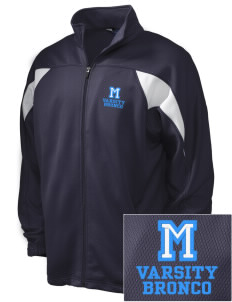 Middltown Middle School bronco Embroidered Holloway Men's Full-Zip Track Jacket