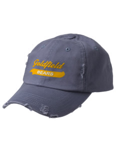 Goldfield School Bears Embroidered Distressed Cap