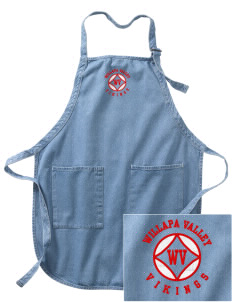 Willapa Valley High School Vikings Embroidered Full-Length Apron with Pockets