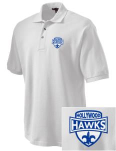 Hollywood Elementary School Hawks Embroidered Tall Men's Pique Polo