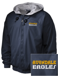 Avondale Elementary School Eagles Embroidered Holloway Men's Hooded Jacket