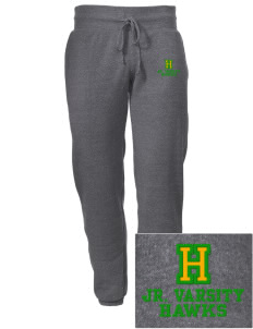 Hillview Elementary School Hawks Embroidered Alternative Men's 6.4 oz Costanza Gym Pant