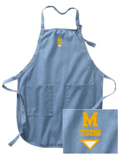 Monroeville Elementary School Tigers Embroidered Full-Length Apron with Pockets