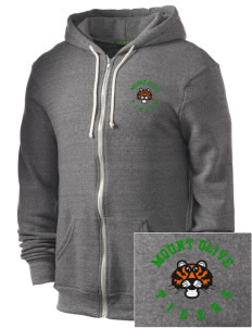 Mount Olive Elementary School Tigers Embroidered Alternative Men's Rocky Zip Hooded Sweatshirt