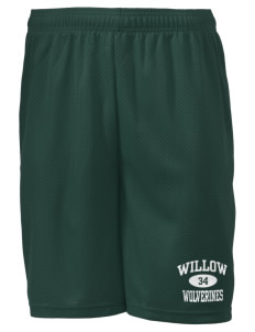 "Willow Elementary School Wolverines Men's Mesh Shorts, 7-1/2"" Inseam"
