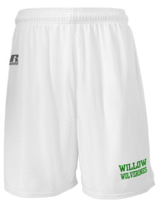 "Willow Elementary School Wolverines  Russell Men's Mesh Shorts, 7"" Inseam"