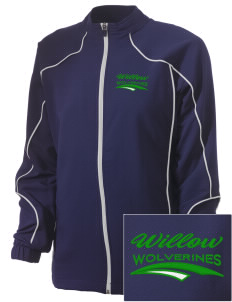 Willow Elementary School Wolverines Embroidered Russell Women's Full Zip Jacket