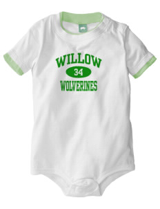 Willow Elementary School Wolverines Baby One-Piece with Shoulder Snaps
